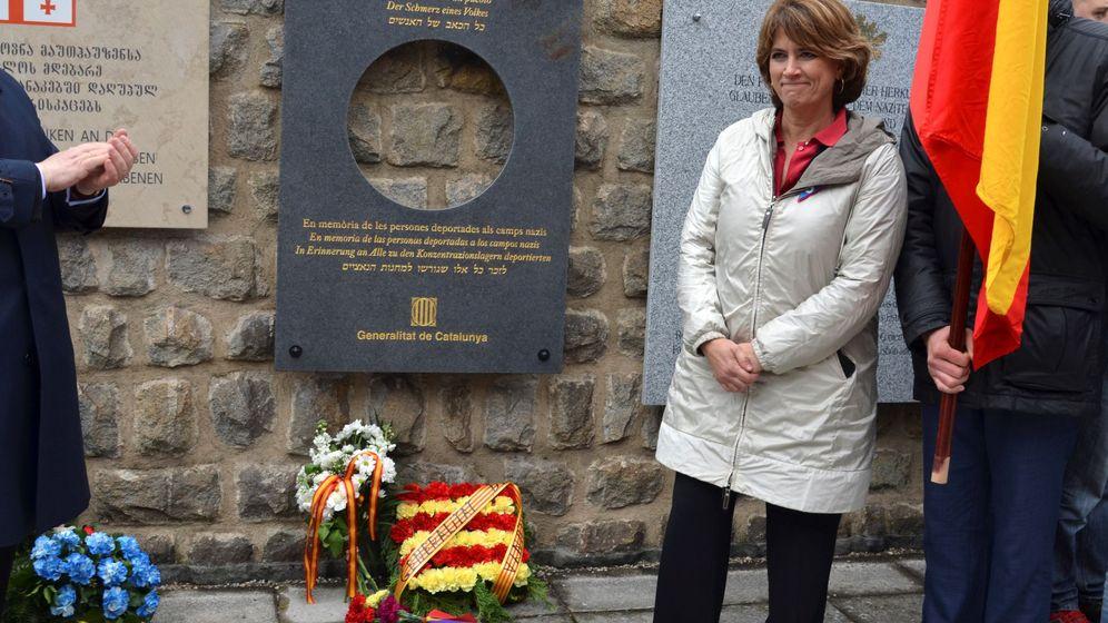 Foto: Dolores Delgado en Mauthausen. (EFE)
