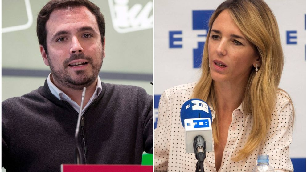 Foto: Alberto Garzón y Cayetana Álvarez de Toledo. (El Confidencial)