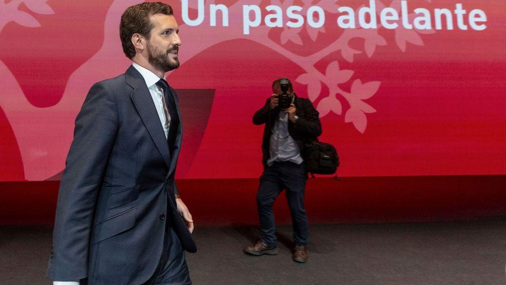 Casado descarta la gran coalición para investir a Sánchez ante 600 empresarios