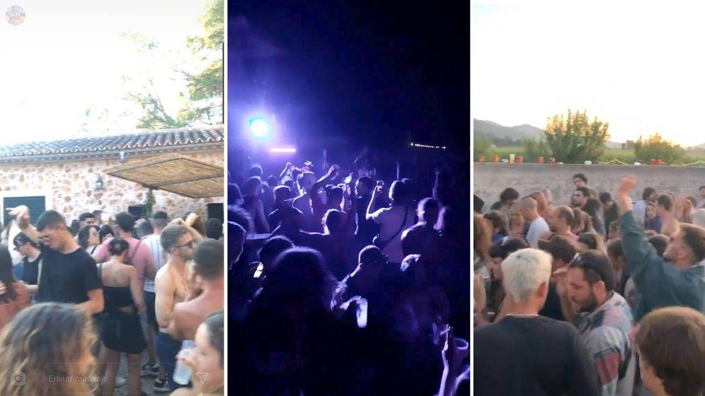 Foto: Tres ejemplos de fiestas privadas organizadas en Baleares este verano.