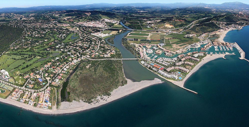 Foto: Vista aérea de las playas de Sotogrande.