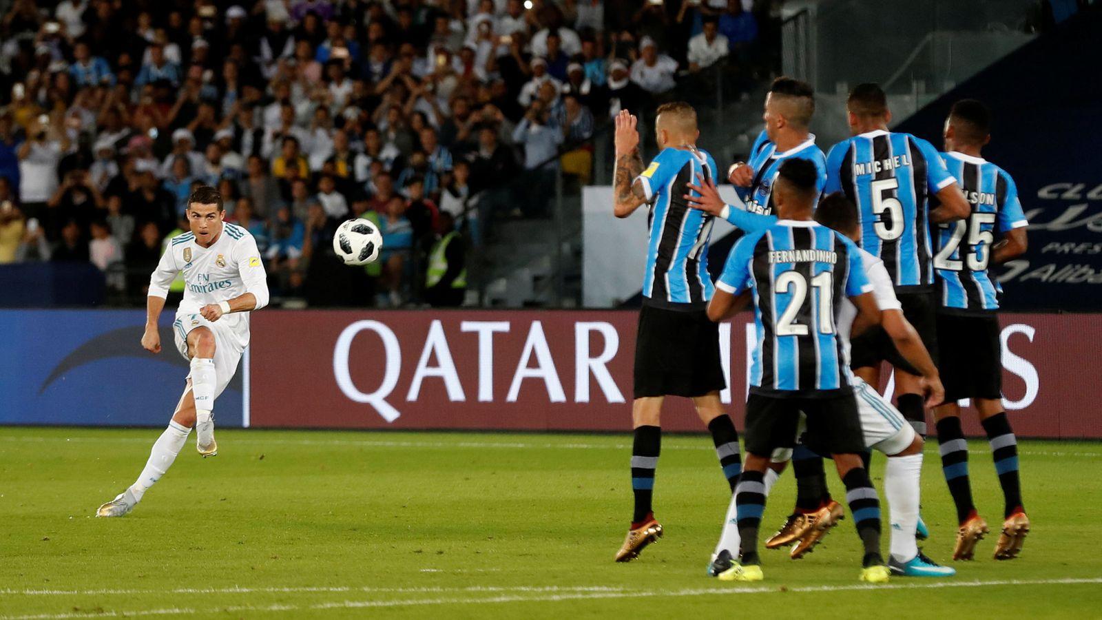 Foto: Cristiano Ronaldo decidió la final del Mundial de Clubes con un gol de falta. (Reuters)