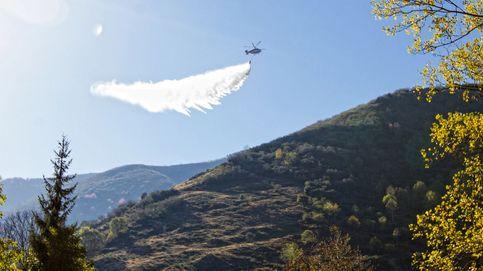 Incendio en el monte de posadas Ezcaray (La Rioja)