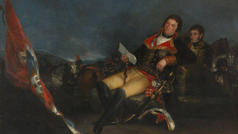 Foto: Manuel Godoy retratado como vencedor de la guerra de las Naranjas, por Goya.
