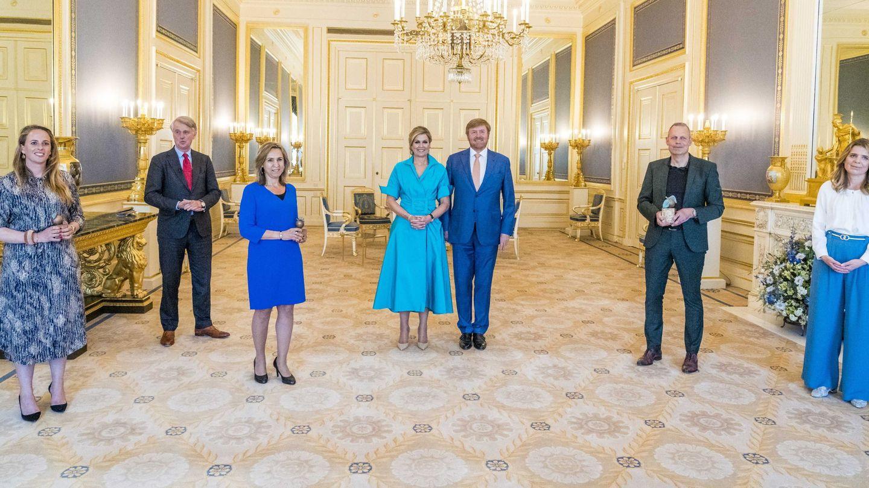 Los reyes de los Países Bajos, en su cita de este martes. (EFE)