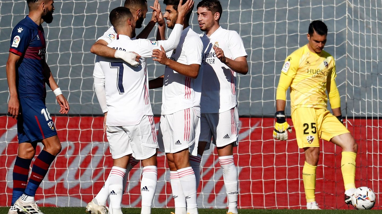 Celebración de un gol en el estadio Alfredo Di Stéfano. (EFE)