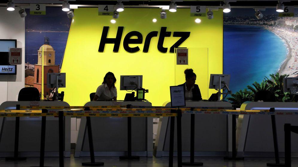 Foto: The desk of car rental company hertz is seen at nice international airport