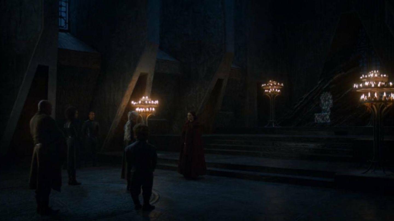 El encuentro entre Daenerys y Melisandre no destacó por su iluminación a pesar de la relación de ambas con la luz y el fuego