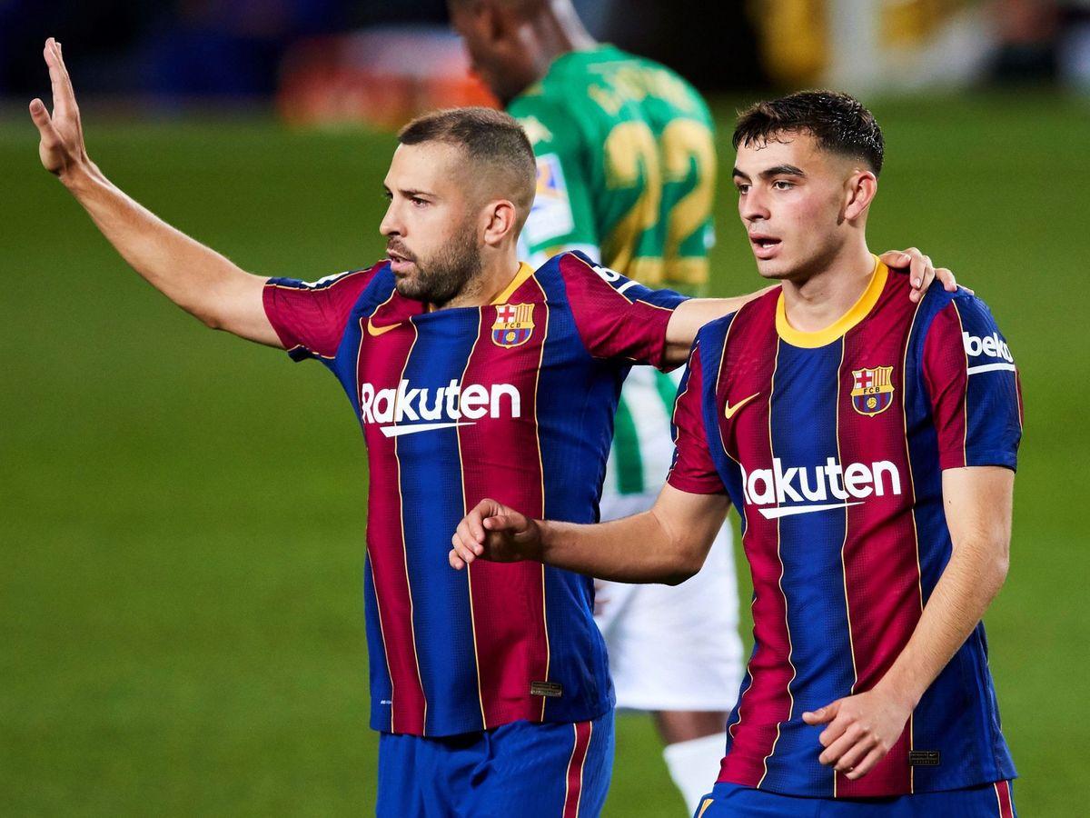 Foto: Jordi Alba y Pedri entran en la lista de Luis Enrique. (Efe)