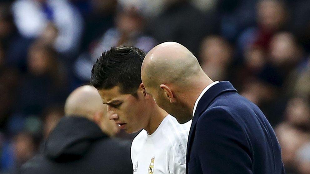 El cara a cara de James con Zidane acaba con la farsa de que todos cuentan en el equipo