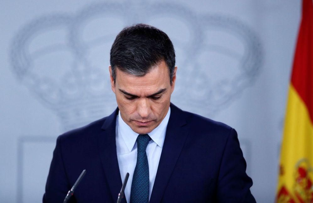 Foto: Pedro Sánchez, durante su comparecencia con el presidente electo del Consejo Europeo, Charles Michel, este 14 de noviembre en la Moncloa. (EFE)