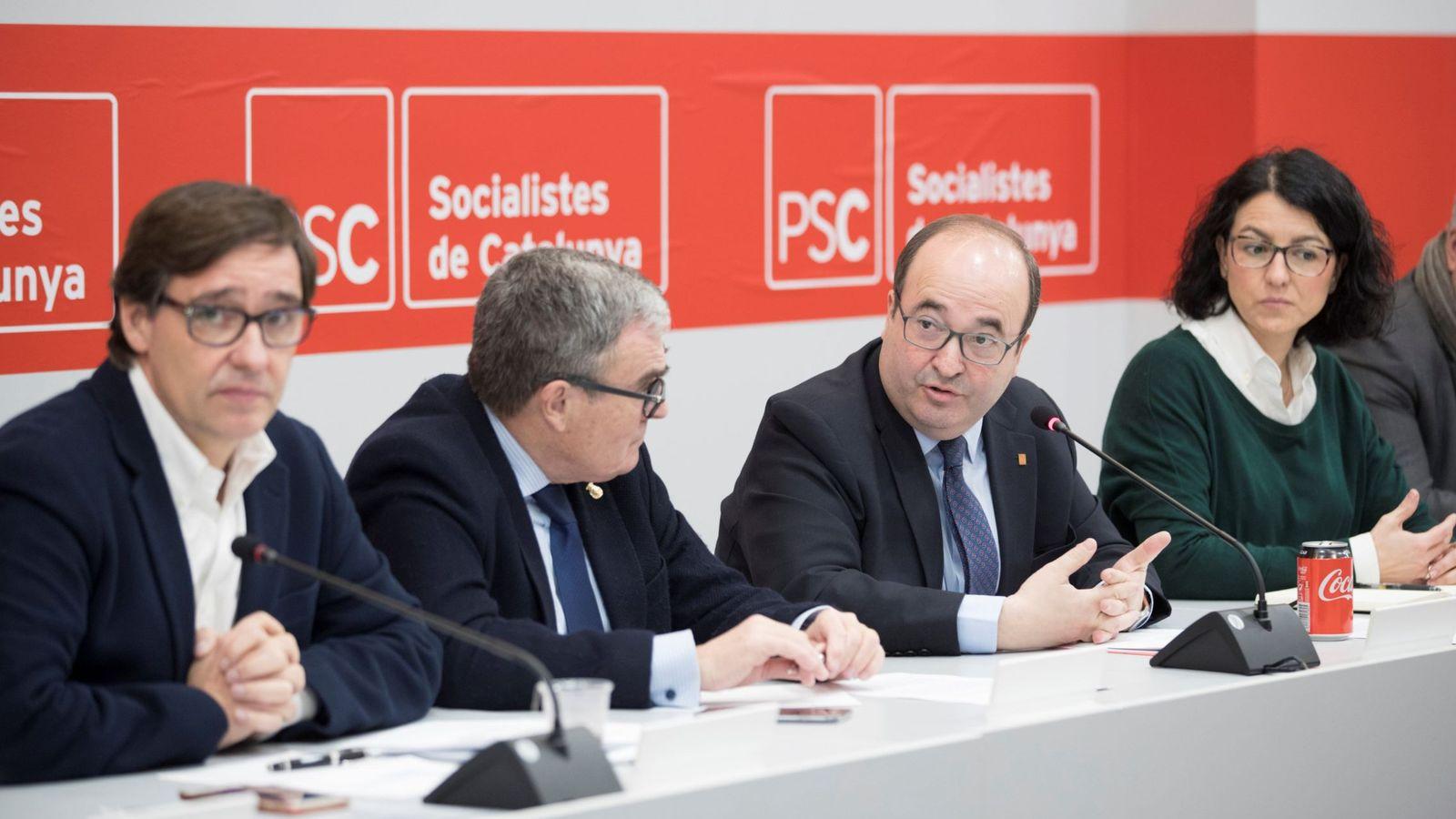 Foto: Imagen de archivo de la comisión ejecutiva del PSC. (EFE)