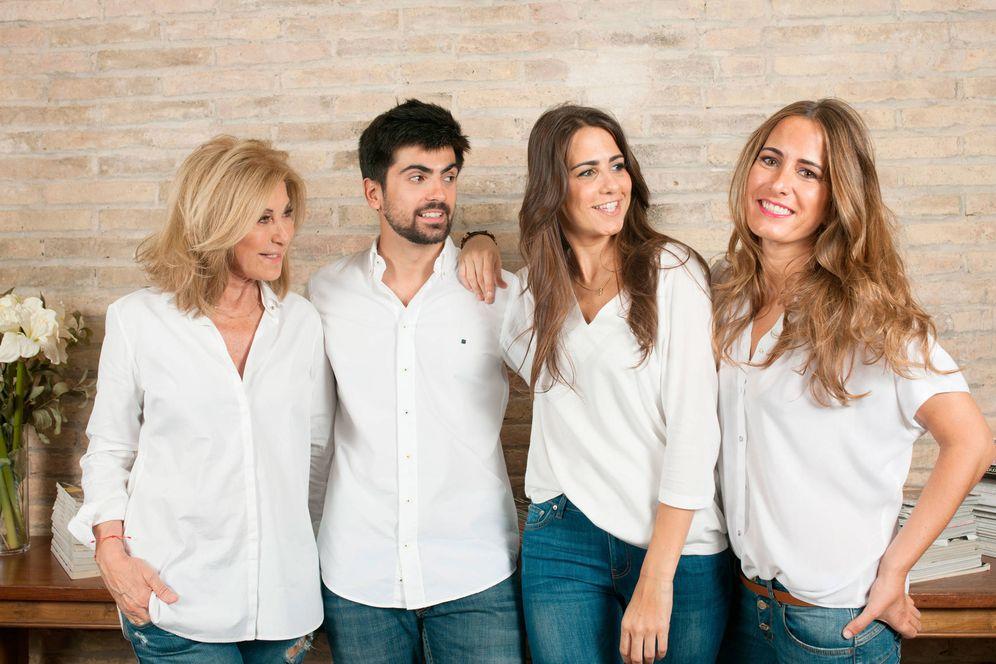 Foto: Purificación García y sus hijos Marc, María y Sole. (D.R.)