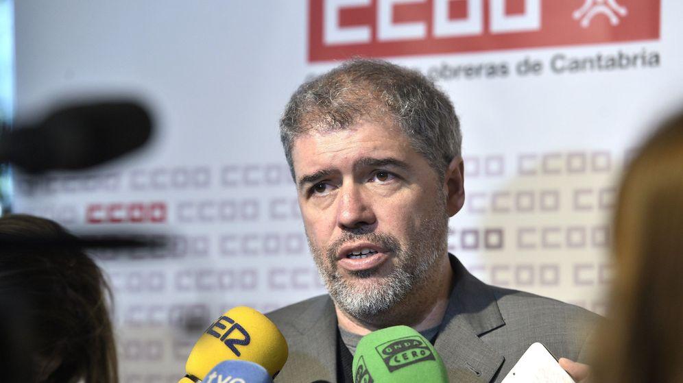 Foto: El secretario general de Comisiones Obreras, Unai Sordo, en un acto. (EFE)
