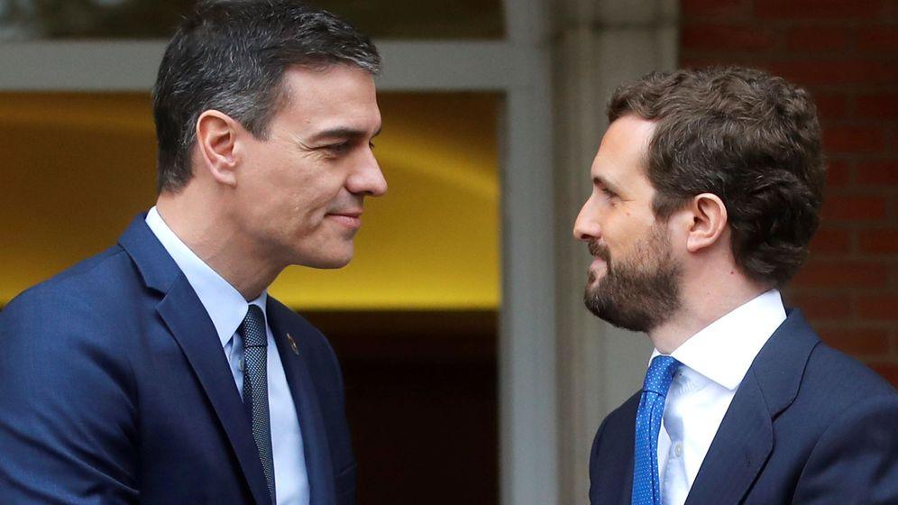 Foto: Pedro Sánchez y Pablo Casado. (EFE)