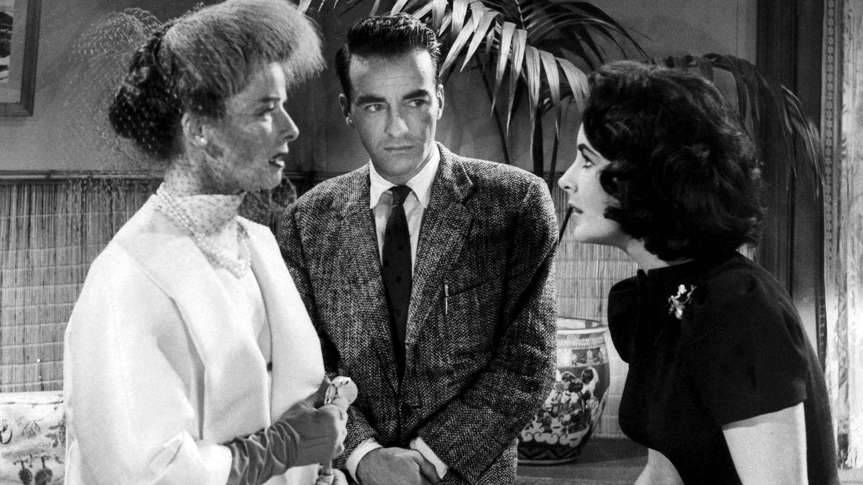 El actor, junto a Katharine Hepburn y Elizabeth Taylor en el rodaje de 'De repente, el último verano'. (CP)