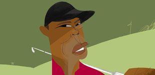 Post de Tiger Woods, madera de tigre