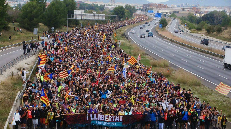 Imagen de la AP-7 difundida por Anonymous Catalonia.