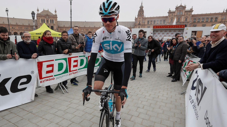 Chris Froome participó la pasada semana en la Vuelta a Andalucía. (EFE)