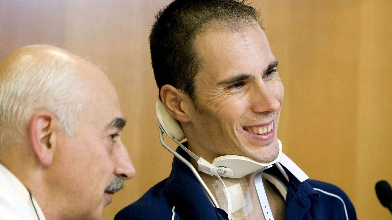 Pedro Horrillo, tras su caída. (EFE)