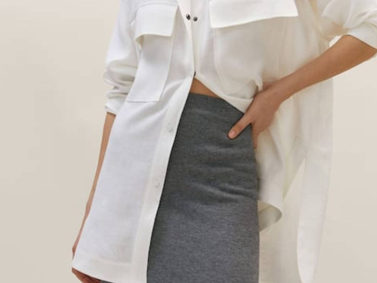 Foto: La falda de Masssimo Dutti. (Cortesía)