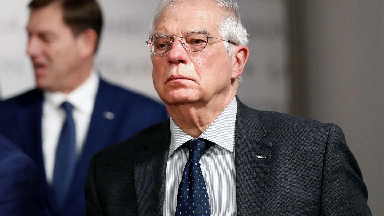 Josep Borrell, ministro español de Exteriores, llega a la reunión ministerial en Bucarest. (EFE)