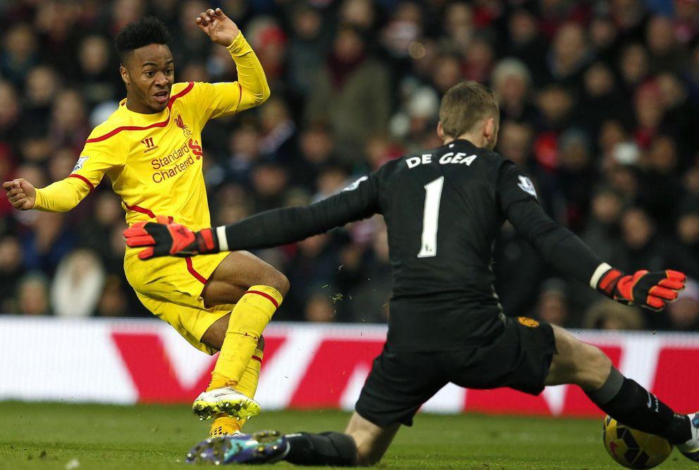 Foto: De Gea evita el gol de Sterling (Reuters)