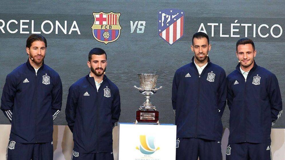 Foto: Imagen del sorteo de la Supercopa de España que se disputará en Arabia. (EFE)