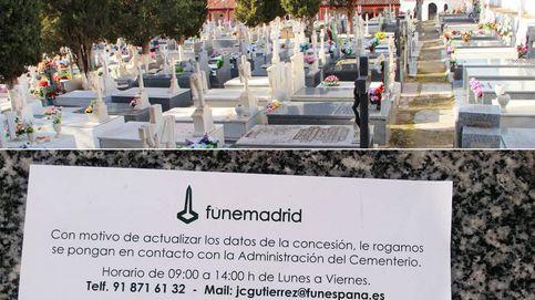 La tumba del abuelo, en peligro: decenas de familias hallan un ultimátum en sus lápidas