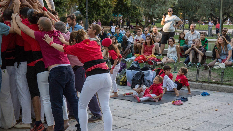 Más de un centenar de espectadores acudió a los actos de la Diada en Madrid. (D.B.)