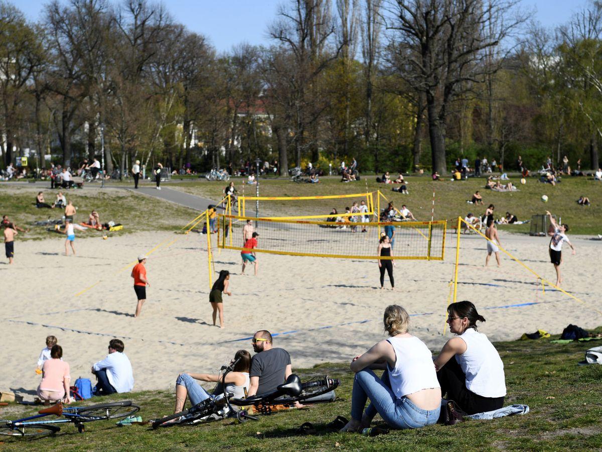 Foto: Un parque en Berlín, este fin de semana. (Reuters)