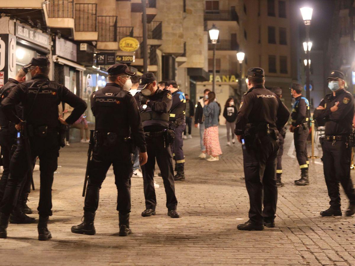 Foto: Policía en Salamanca. (EFE)