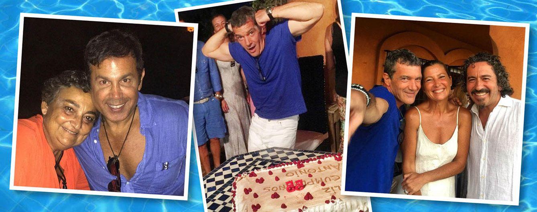 Foto: El actor malagueño disfrutó de una velada con amigos (Vanitatis)