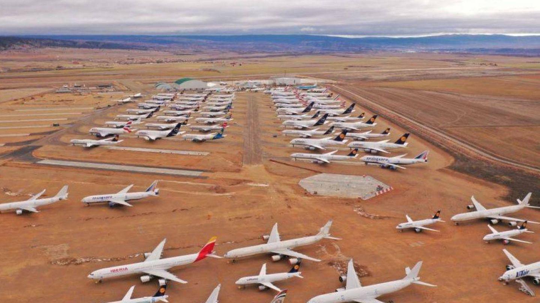 El aeropuerto de Teruel, un lugar donde se almacenan aviones. (EFE)
