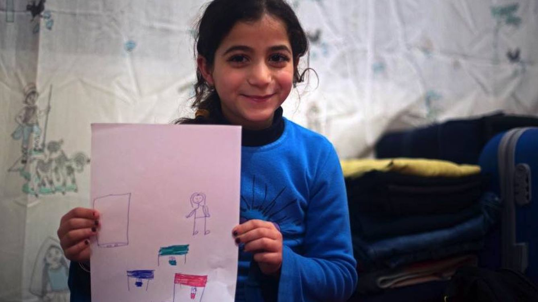 Niña refugiada, ¿y tú qué quieres ser de mayor?