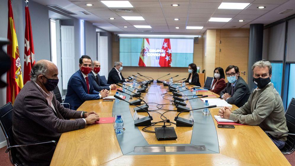 Foto: Imagen de la reunión del Grupo Covid-19 celebrada este martes. (EFE)