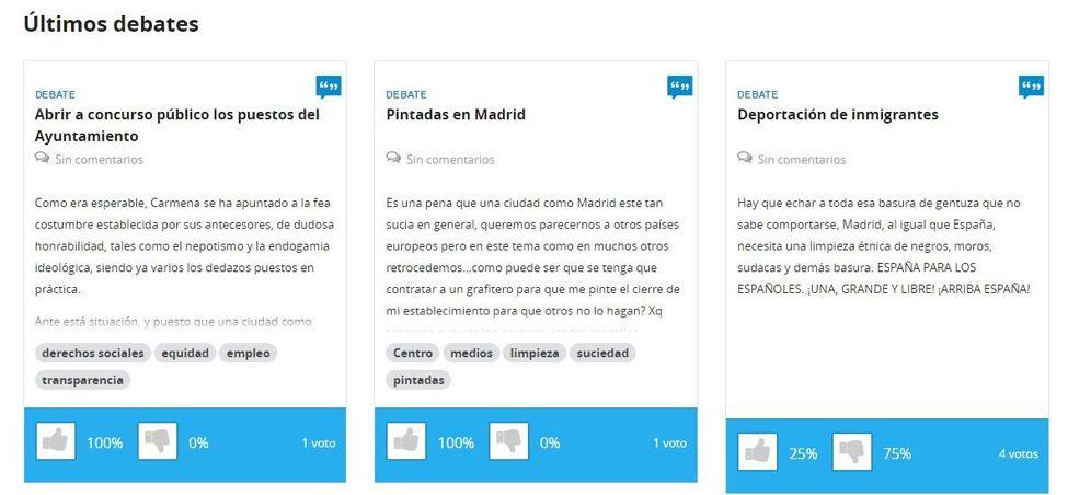 Foto: La nueva web de 'Gobierno Abierto' del Ayuntamiento de Madrid