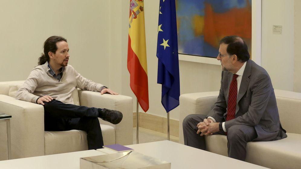 Foto: Mariano Rajoy, junto con Pablo Iglesias (Efe)