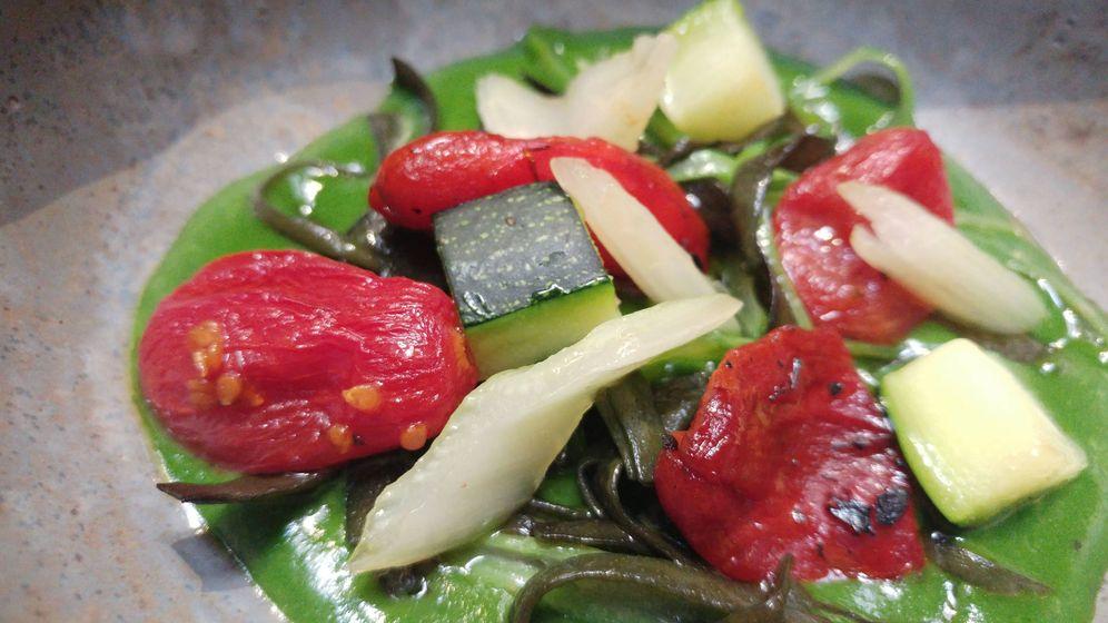 Foto: La menestra de verduras de Montia.
