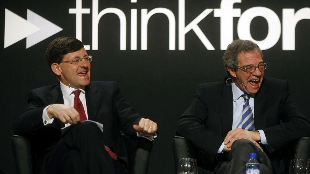 Foto: Vittorio Colao, CEO de Vodafone, y César Alierta, CEO de Telefónica. (Foto: Reuters)