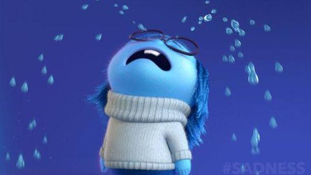 Foto: Tristeza llora en un fotograma de la película 'Inside Out'.