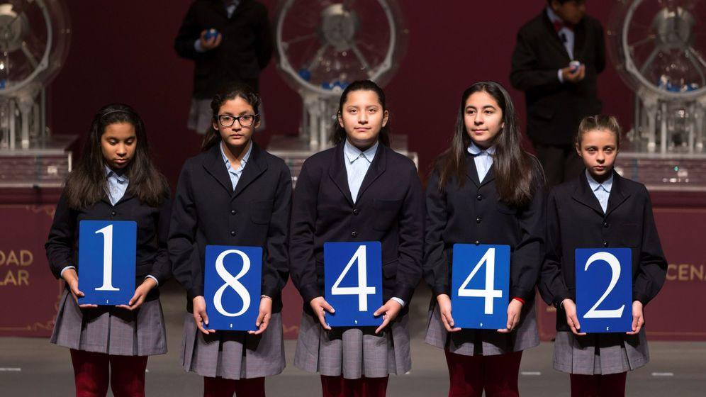 Foto: El 18.442, segundo premio de la Lotería del Niño. (EFE)