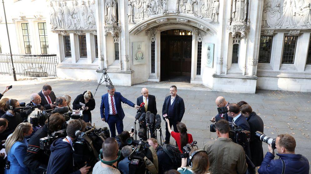 Foto: Gareth Lee, a la salida del Tribunal Supremo (Reuters/Simon Dawson)