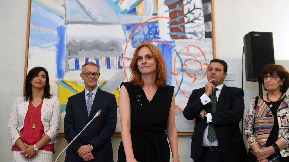 Foto: Beatriz Navas Valdés en la toma de posesión como directora general del ICAA. (Efe / Fernando Villar)