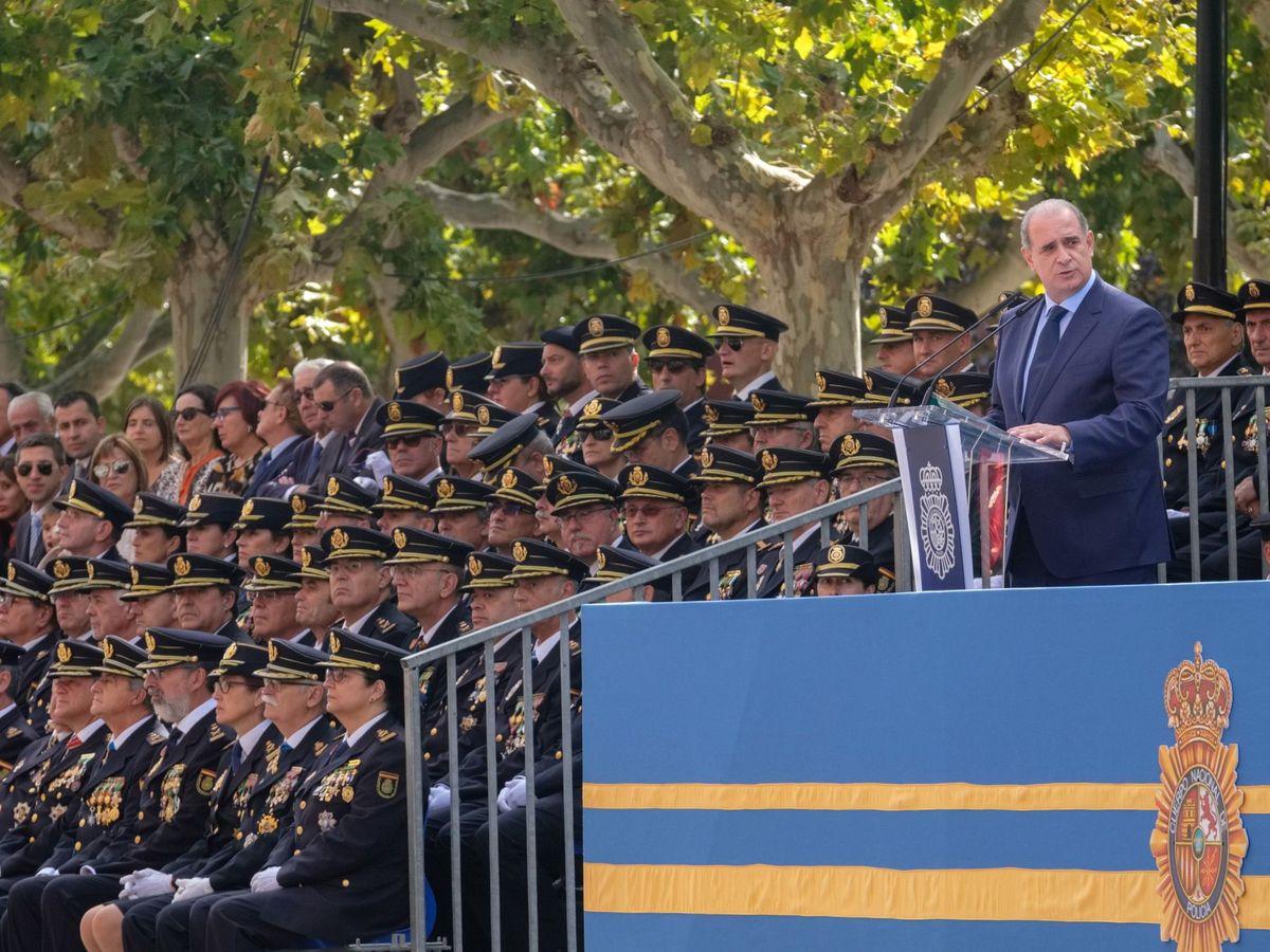 Francisco Pardo Piqueras durante el pasado Día de la Policía en Logroño. (EFE)