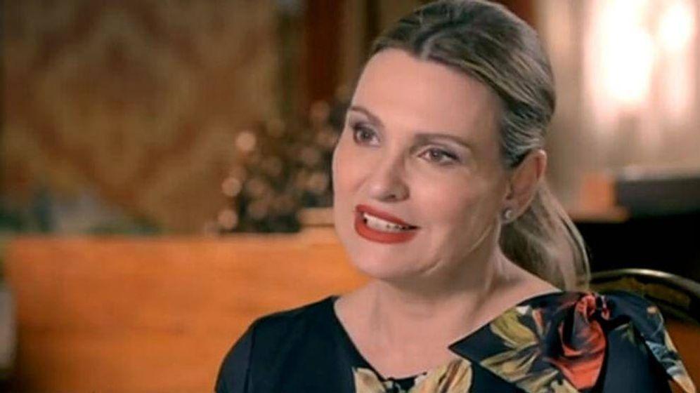 Foto: Ainhoa Arteta, durante la entrevista. (Rtve)