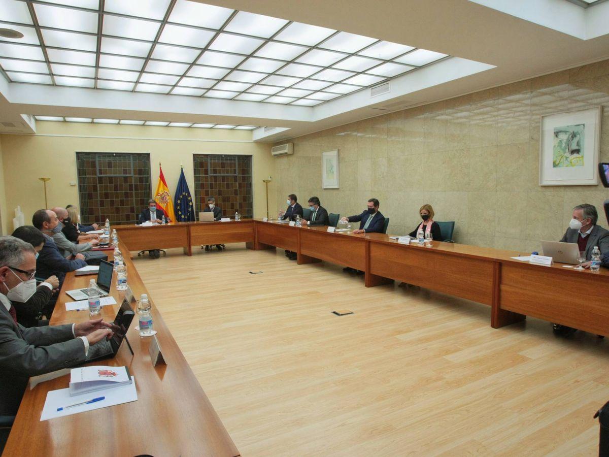 Foto: Imagen de la reunión de la mesa de diálogo social. (Ministerio de la Seguridad Social)