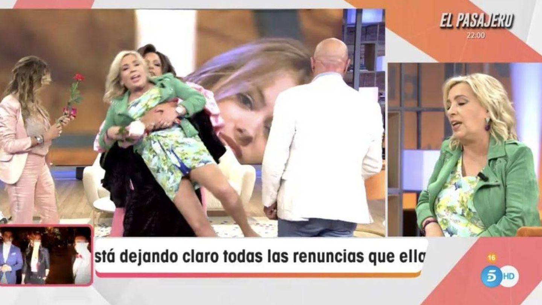 Carmen Borrego, en la sección de Torito, en 'Viva la vida'. (Mediaset)