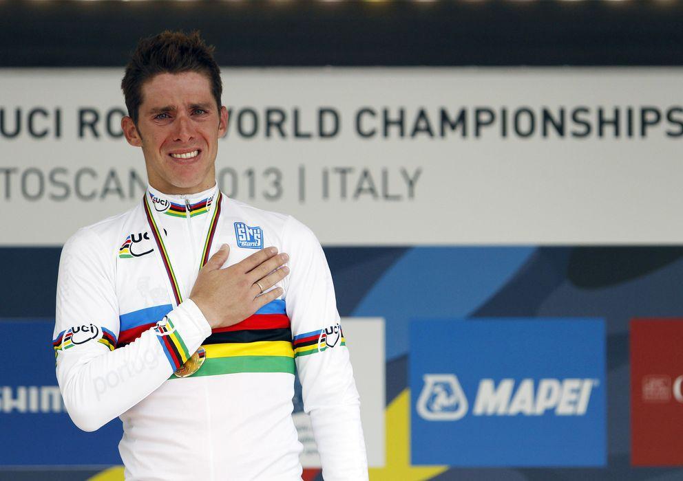 Foto: El portugués Rui Costa, nuevo campeón del mundo de ciclismo en ruta.