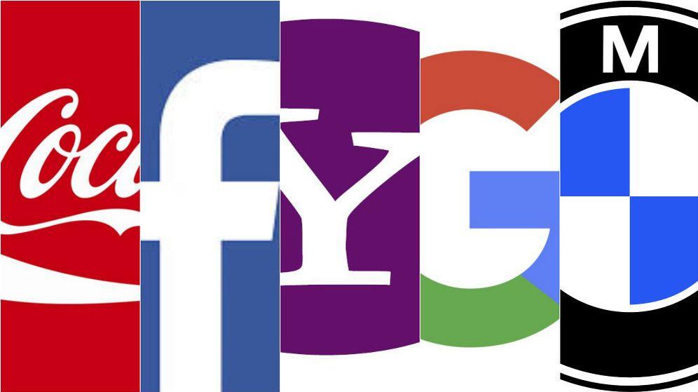 Foto: Logos de algunas famosas marcas internacionales.